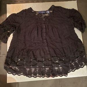 Black Lacy Shirt